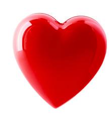 A red heart isolated on white background.
