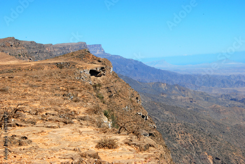 Oman, mountains landscape of Omani great canyon