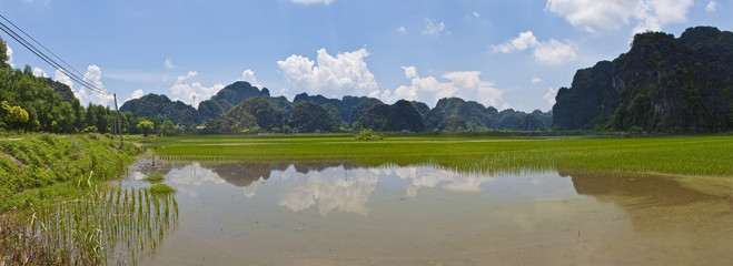 Vietnam limestone landscape near Ninh Binh