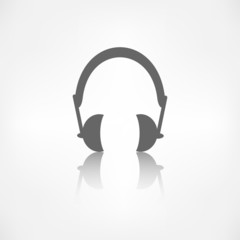 Headphones icon. Musical accessory.