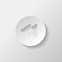 Reverse or rewind icon. Media player.
