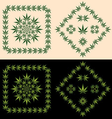 Pot Leaf Borders & Icons
