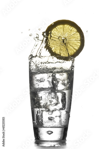 Healthy Water with splash - Stock Image