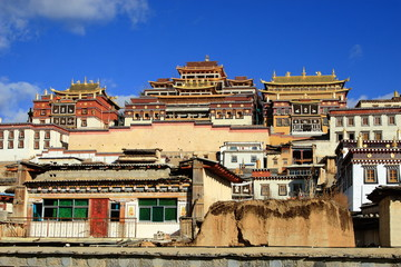 Songzanlin Lamasery in Yunnan Province China