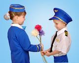little boy in a suit Pilot