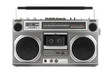canvas print picture - Retro ghetto blaster isolated on white with clipping path