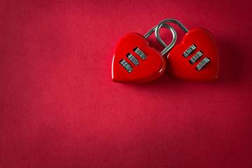 Two love padlock