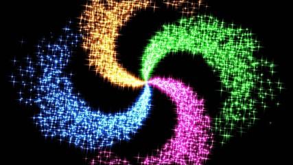 放射状の星