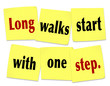 Long Walks Start With One Step Saying Quote Sticky Notes
