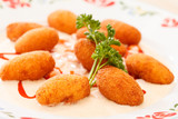 potato balls with sauce