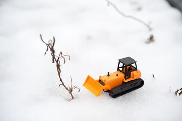ブルドーザーと雪害
