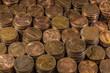 Piles of American Pennies