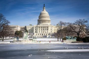 Washington D.C. in the USA in the Winter Season