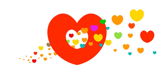 Full Color Love Vector