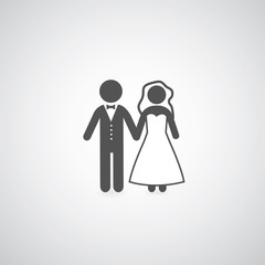 bride and groom symbol