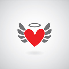 Winged heart symbol