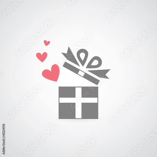 heart in gift box symbol