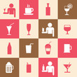 Beverages icons set