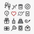 Different Valentines Day icons set. Design elements