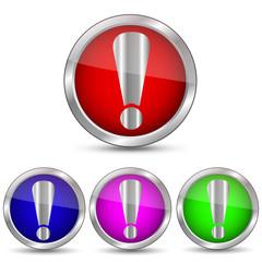 векторная кнопка восклицательный знак