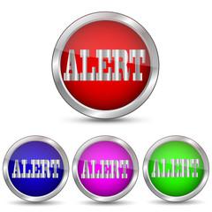 векторная кнопка Alert тревога
