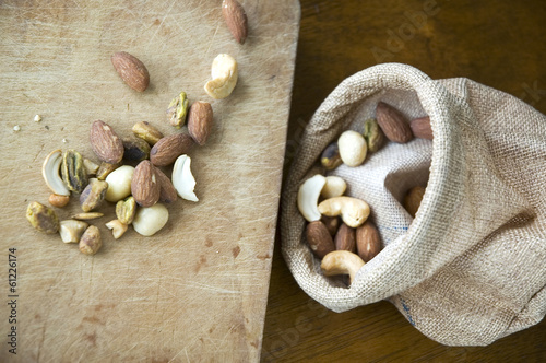 nuts with sackcloth