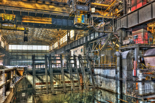 Inside a disused metalworking plant