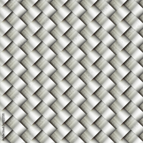 wickerwork metal pattern background