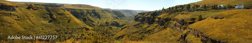 Panorama of a canyon in the North Caucasus