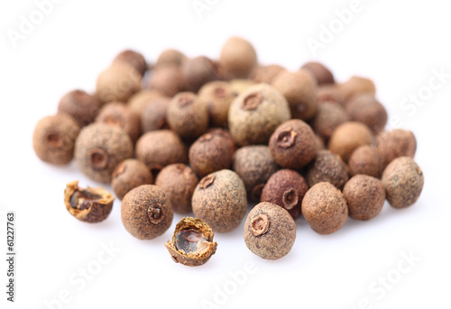 Allspice on a white background
