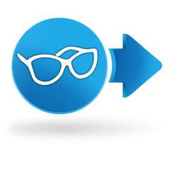 optique sur symbole web bleu