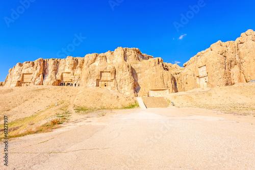 The tomb of Persian king carved in Naqsh-e Rustam, Shiraz, Iran.
