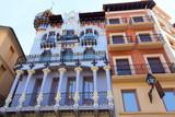 Aragon Teruel El Torico modernist building in Spain poster