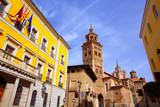 Aragon Teruel Cathedral and Ayuntamiento Town Hall Spain