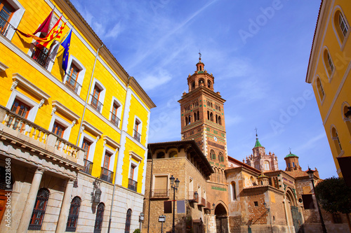 Aragon Teruel Cathedral and Ayuntamiento Town Hall Spain