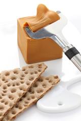 Scandinavian brown cheese and crispy bread