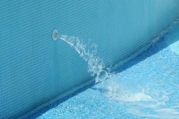 Наполнение бассейна водой