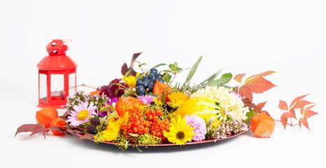 Tischschmuck im Herbst