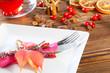 Gedeck zum Herbstfest