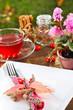 Gedeckter Tisch zum Erntedankfest