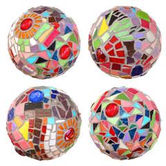 Boules mosaïque