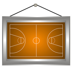 Basketball platform in a frame
