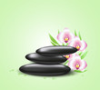 Background with orchids and spa stones