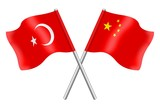 Flags: Turkey and China