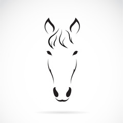 Vector image of an horse face