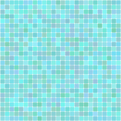 Vector background of bright turquoise mosaic square
