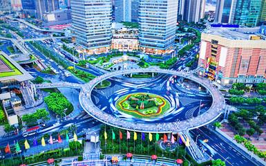 bird's eye view of modern city