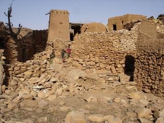 Un village du pays Dogon au Mali