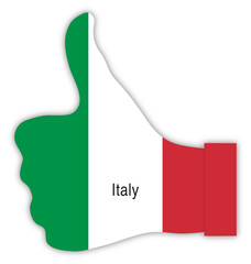 Italien Daumen hoch, Italy thumbs up