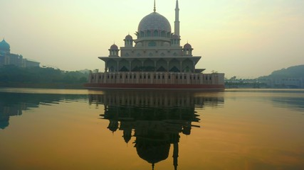 putrajaya mosque time lapse sunrise